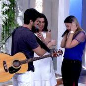 Fátima Bernardes promove pedido de casamento no 'Encontro' e festeja: 'Lindo'