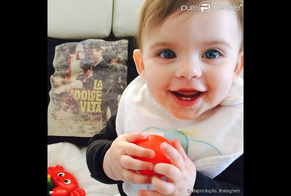 Maria Eduarda, fiha de Henri Castelli, festeja primeiro aniversário neste domingo, dia 11 de janeiro de 2015