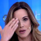 Ana Furtado reassume 'Encontro' e aparece com curativo: 'Dei de cara no vidro'