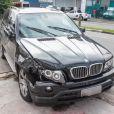 Renner bateu com sua BMW na traseira de um Fiat Uno que estava estacionado