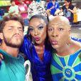 Klebber Toledo, Aílton Graça e Cris Vianna gravam cenas de 'Império' em clima de Carnaval. A foto foi postada no Instagram de Klebber, nesta quarta-feira, 7 de janeiro de 2014