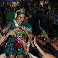 Claudia Leitte foi coroada como rainha de bateria da Mocidade Independente de Padre Miguel