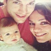 Ashton Kutcher e Mila Kunis aparecem pela primeira vez em fotos com a filha