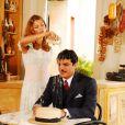 Grazi Massafera e Rodrigo Lombardi protagonizaram cenas hilárias em 'Desejo Proibido'