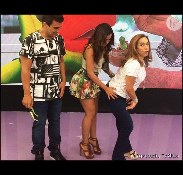 Anitta Ensina Cissa Guimaraes A Dancar O Quadradinho No Programa