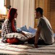 Casada com João Lucas (Daniel Rocha) em 'Império', Du (Josie Pessôa) morre de ciúmes de outra ruiva: Maria Isis (Marina Ruy Barbosa)