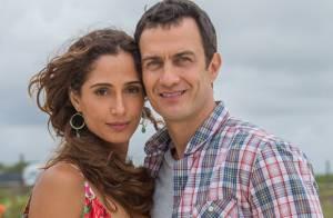 'Babilônia': Camila Pitanga e Gabriel Braga Nunes gravam cenas de beijo na praia