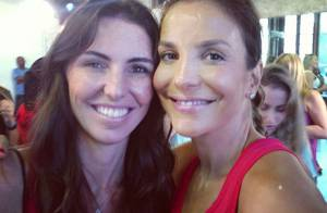 Ivete Sangalo dança zumba com Glenda Kozlowski para o 'Esporte Espetacular'