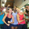 Ivete Sangalo e Glenda Kozlowski se divertem durante gravação de novo quadro do 'Esporte Espetacular'