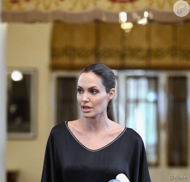 Engajada nas causas sociais, Angelina Jolie falou aos ministros do G8 sobre a necessidade de fazer algo a respeito dos criminosos sexuais de guerra, em Londres, nesta quinta-feira, 11 de abril de 2013