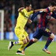 Messi também foi muito marcado em campo