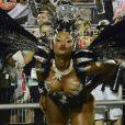 Camila Silva, par romântico de Cauã Reymond na série 'Dois Irmãos', sensualiza durante desfile da escola de samba Vai-Vai em São Paulo, na madrugada deste domingo, 15 de fevereiro de 2015