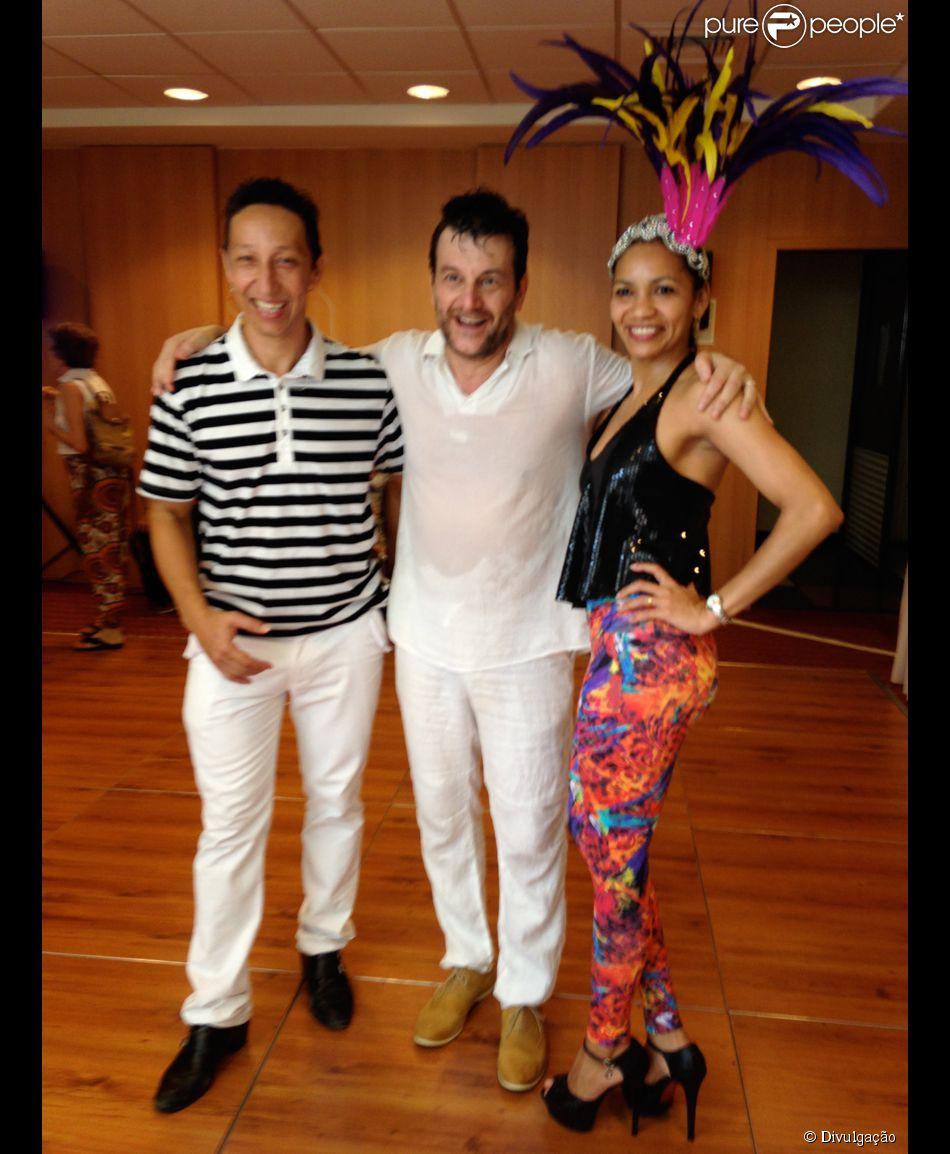 Roberto Birindelli, o Josué de 'Império', faz aulas de samba com os professores Naldi e Nete Vieira no domingo, 15 de fevereiro de 2015
