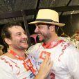 Roberto Birindelli encontrou o amigo, o ator Bruno Padilha, na folia