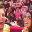 Carol Castro compartilhou em sua conta de Instagram uma foto ao lado de Fábio Porchat