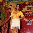 Carol Castro passou pelo camarote de cervejaria em Recife