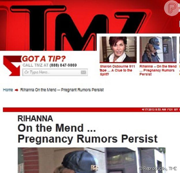 Rihanna sai de consultório médico com roupas largas e aumenta rumores sobre gravidez de Chris Brown, nesta quarta-feira, 17 de abril de 2013