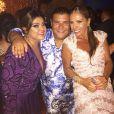 Adriane Galisteu e Preta Gil se divertem na festa de casamento de Thiaguinho e Fernanda Souza