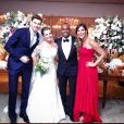 Carol Sampaio foio madrinha de casamento de Thiaguinho e Fernanda Souza