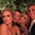 Angélica, Carolina Dieckmann e Luciano Huck se divertem na festa de casamento de Thiaguinho e Fernanda Souza