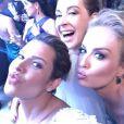 Fernanda Souza, Claudia Raia e Angélica se divertem na festa de casamento de Fernanda Souza e Thiaguinho