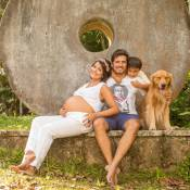 Juliana Knust dá à luz Arthur, seu segundo filho com Gustavo Machado