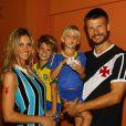 Fernanda Lima e Rodrigo Hilbert são pais de João e Francisco. Os gêmeos do casal completam 7 anos em abril