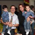 No ar em 'Império', Susy Rêgo também tem filhos gêmeos. A atriz é mãe de Marco e Massimo, de 5 anos