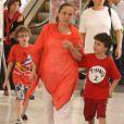 A atriz Isabela Garcia é mãe de quatro filhos, dentre eles, os gêmeos Francisco e Bernardo, de 10 anos
