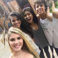 'Muito carinho envolvido', escreveu Jakelyne Oliveira em imagem compartilhada dos bastidores das gravações de 'Dois Irmãos'