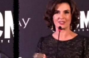 Fátima Bernardes e William Bonner são premiados em evento de revista no Rio
