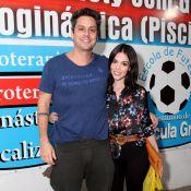 Karen Brusttolin leva o namorado, Alexandre Nero, para festa de 'Flor do Caribe'