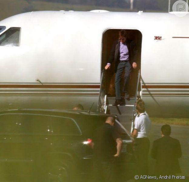 Paul McCartney desembarca no Brasil, em 3 de abril de 2013