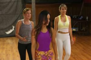 Zilu faz aula de dança sob a orientação de Marlene Mattos antes de estrear na TV