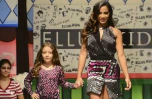 Anitta exibe boa forma ao desfilar em evento de moda infantil. Veja fotos!