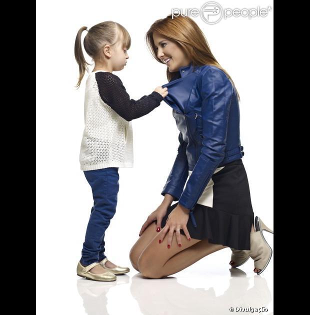 Rafaella Justus posa com a mãe pela primeira vez para uma campanha de Dia das Mães, em maio de 2013