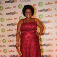 Cacau Protasio, a Zezé de 'Avenida Brasil', optou por um vestido bordado para assistir ao 15° prêmio Contigo!, no Copacabana Palace