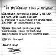 Beyoncé escreve recado para os fãs da Bélgica após adiamento do show, em 14 de maio de 2013