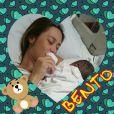 Dani Monteiro se tornou mamãe pela segunda vez, com o nascimento de Bento, nesta semana
