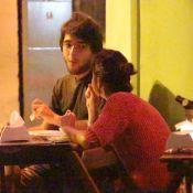Humberto Carrão e a namorada, Chandelly Braz, jantam em restaurante do Rio