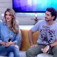 Casados, Rafa Brites e Felipe Andreoli relembraram o pirmeiro encontro deles antes de namorarem