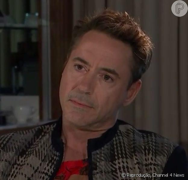 Robert Downey Jr. se irrita com jornalista ao ser questionado sobre seu passado com drogas