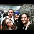 Caio Castro e Giovanna Lancellotti viajaram junto com um grupo de amigos para o Chile em junho de 2014