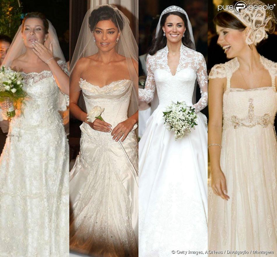 Vestidos de noiva mais bonitos das famosas