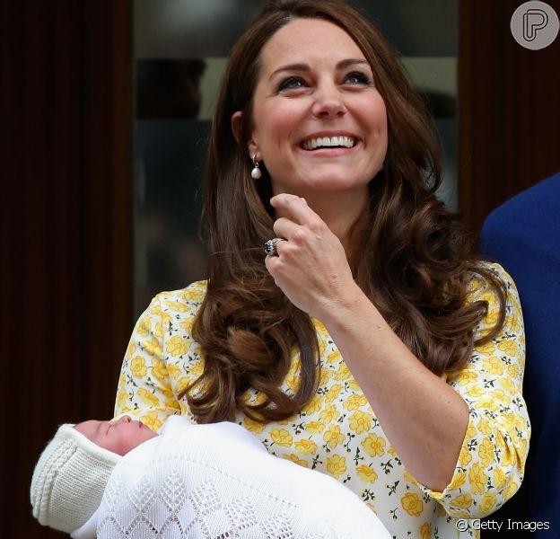 Kate Middleton deu à luz sua filha sem ajuda de anestesia peridural, segundo a revista 'US Weekly'