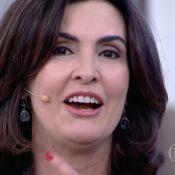 Fátima Bernardes se emociona com declaração surpresa dos filhos no 'Encontro'
