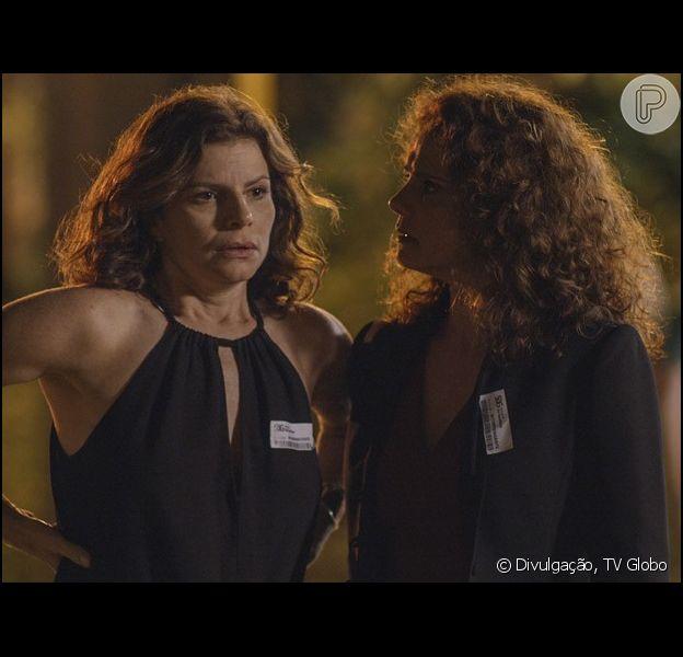 Irene (Malu Galli) deixa Lígia (Débora Bloch) furiosa ao tentar arrumar um pretendente para a irmã, na novela 'Sete Vidas', em 23 de maio de 2015