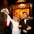 Após trocarem alianças na igreja, Preta Gil e Rodrigo Godoy seguiram para a festa de casamento, que aconteceu em uma mansão em Santa Teresa