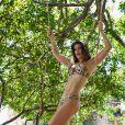 Priscila Fantin posou de lingerie no Parque Ecológico Engenhoca, em Aquiráz, no Ceará, para a nova coleção de uma grife