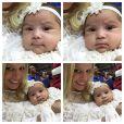 Naldo e a mulher, Ellen Cardoso, levam a filha Maria Victoria à igreja no Rio, em 18 de maio de 2015